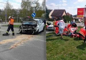 Při vážné nehodě v Brně se zranilo šest lidí včetně jednoho dítěte.