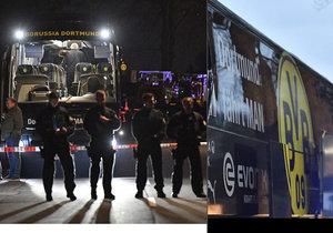 Při úterních explozích poblíž autobusu Borussie před utkáním fotbalové LM v Dortmundu byl zraněn policista i jeden z hráčů.