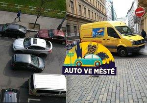 Dopravcům v dodávkách v centru Prahy okolnosti často nedávají na výběr, parkují mimo povolená místa.