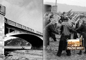 Dnešní most Barikádníků v Praze zátarasy nezažil. Odboj probíhal na jeho předchůdci