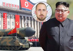 """Diktátor Kim opět """"chřastí"""" raketami, Severokorejci hrozí útokem. Dojde k němu? Dění na Korejském poloostrově sleduje i český odborník Jan Blinka (v kroužku)."""