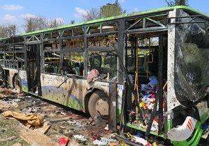 Útok sebevražedného atentátníka na konvoj v Sýrii nepřežilo přes sto lidí včetně 68 dětí.