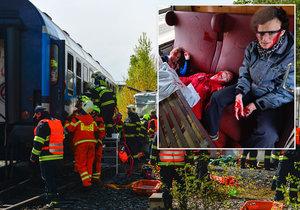 V Praze proběhlo cvičení vlakové nehody.