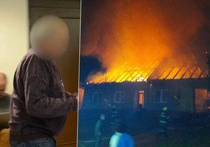 Za zapálení domu a smrt ženy dostal muž z Rychnovska deset let.