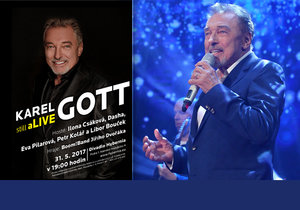 Samostatný Gottův koncert proběhne 31. května v Divadle Hybernia.