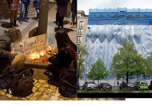 Poslední rozloučení s budovou na rohu Václavského náměstí a Opletalovy ulice v Praze 1.