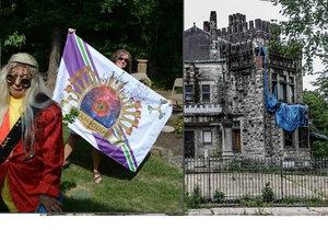 Opuštěný Ashlar Hall, který výstřední milionář Robert Hodges proměnil v noční klub The Castle.
