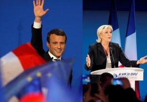 Emmanuel Macron a Marine Le Penová postoupili do druhého kola prezidentských voleb ve Francii.