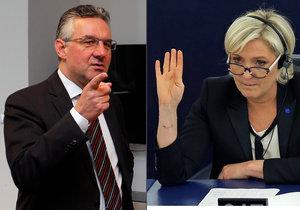 """Jan Zahradil (ODS) je místopředsedou výboru, jehož členkou je i Marine Le Penová. """"Její fanoušek nejsem, i proto, že právě z výboru znám její názory,"""" řekl o kandidátce na francouzskou prezidentku český europoslanec."""