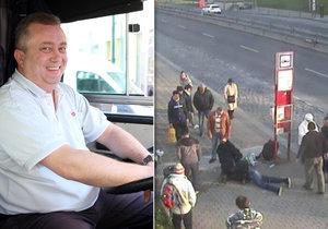 Řidič autobusu Aleš Jindra se zachoval jako hrdina. Pomohl zadržet násilníka, který zbil a okradl seniora.