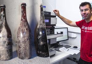 Nevídaným nálezem se staly pouhé tři lahve staré sto let! Martin Dušek, další z vědců, kteří se na analýze stoletého piva podíleli.