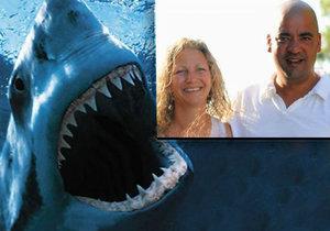 Pohotový hrdina zachránil manželku: Žraloka zahnal pěstí.