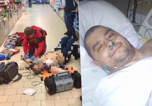 Strážník Jarmil Paar byl 12 minut v klinické smrti. Díky pomoci kolegů a záchranářů se ho ale podařilo přivést k životu. Dojatý pacient ještě večer svým zachráncům poděkoval.