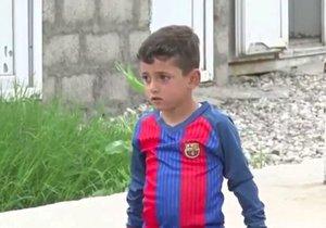 Chlapce unesli teroristé z ISIS, protože ho otec pojmenoval Messi.