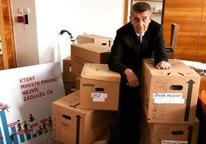Andrej Babiš tvrdí, že má na ministerstvu financí už sbaleno.