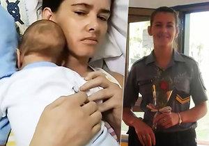 Argentinská policistka měla v těhotenství vážnou nehodu, po které upadla do kómatu. Tři měsíce nevěděla, že porodila.
