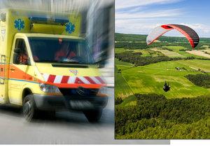 Dva paraglidisté havarovali po startu z vrchu Zvičina.