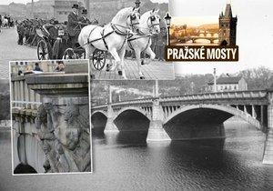 Mánesův most měl problém kvůli výhledu na Hrad. Při stavbě hýbali s výškou nábřeží