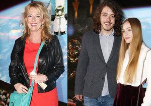 Syn Filipa Blažka a Lucie Benešové Lucián přivedl do kina přítelkyni.