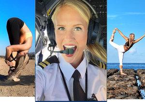 Sexy pilotka Maria Fagerström ze Švédska si užívá života plnými doušky. Na internetu má armádu fanoušků.