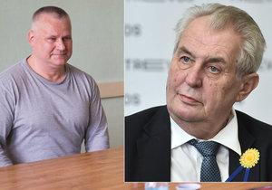 Prezident Miloš Zeman podepsal milost pro Jiřího Kajínka.