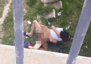 Souložící dvojice se nestyděla. Rozdala si to přímo pod bratislavským mostem.
