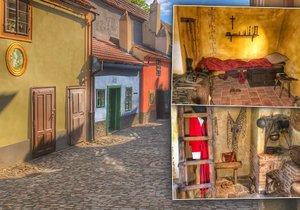 Obydlí si ve Zlaté uličce postavili koncem 16. století Hradní střelci. Bydlelo se tu do 50. let minulého století.