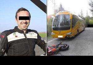 Lukáš (†33) zemřel na motorce: Mohla za to objížďka kvůli rumunskému kamionu bez papírů.