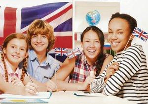 Letních kurzů angličtiny se účastní děti z nejrůznějších zemí.