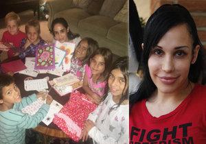 Nadya Suleman a její početná rodinka.