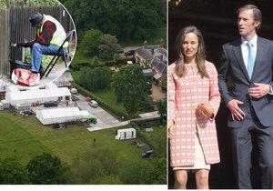 Pippa Middleton si o víkendu bere Jamese Matthewse.