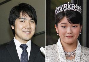 Princezna Mako přijde svatbou s neurozeným přítel o císařský titul.