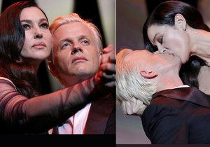 Žhavé zahájení festivalu v Cannes: Monica Bellucci políbila Alexe Lutze.
