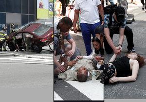 Hrůza na Times Square: Řidič najel do davu lidí, nejspíš byl opilý.
