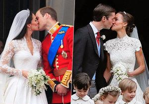 Svatby sester Middletonových byly jako přes kopírák.