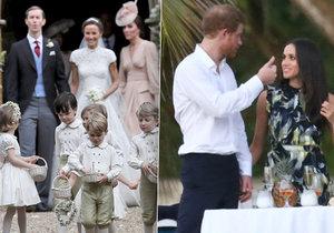 Proč nebyla Meghan Markle na svatbě Pippy? Přítelkyně prince Harryho přijela až na hostinu.
