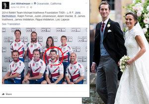 Svědek ženicha Jamese Matthewse způsobil na svatbě Pippy Middleton pořádný trapas.