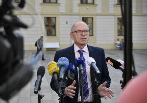 Nastupující ministr financí Ivan Pilný (ANO) po schůzce s prezidentem Milošem Zemanem