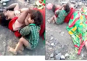 Dítě našli u těla své mrtvé matky jak od ní stále pije