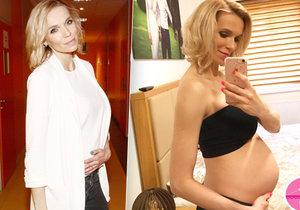 Hanka Mašlíková se pochlubila svým těhotenským bříškem.