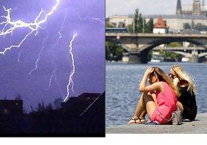 V Praze bude horký týden, přijdou také bouřky.
