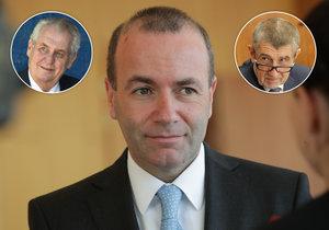 Manfred Weber, šéf největší frakce Evropského parlamentu se pustil do Babiše a Zemana.