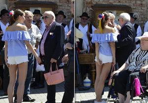 Slováčkova milenka lovila zaříznuté kalhotky: Felixi, drž kabelku!