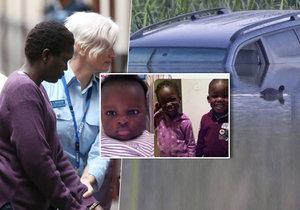 Akon Guodeová (37) vjela autem do jezera a nechala v ně utopit tři děti.