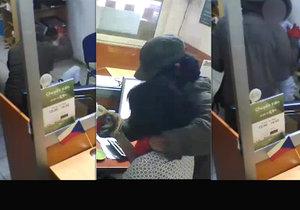 Maskovaný muž přepadl směnárnu, ženu za přepážkou zbil, pak ji okradl, než odešel se ji snažil utěšit.