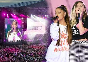 Den po teroristickém útoku v Londýně se přes 50 000 lidí sešlo na charitativním koncertě v Manchesteru.