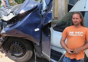 Marek Hodan, přezdívaný anděl z BMW, pomohl už u více než dvou desítek nehod. Naposledy minulý týden, kdy auto srazilo motorkáře.