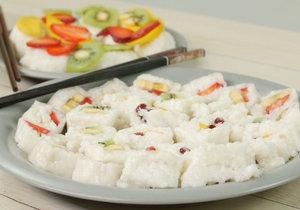 Lahodné sushi z ovoce, neboli frushi