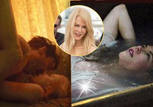 Oscarová herečka Nicole Kidman oslaví 50 let. Ani nyní ale nevynechává odvážné erotické scény.