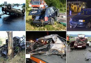 Nejsmutnější týden na silnicích: Zahynulo 21 lidí, z toho 12 jen za víkend